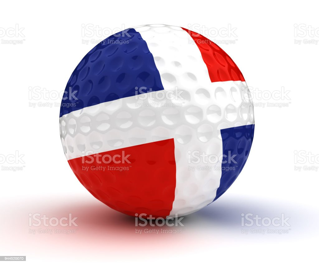 Dominican Republic Golf Ball stock photo