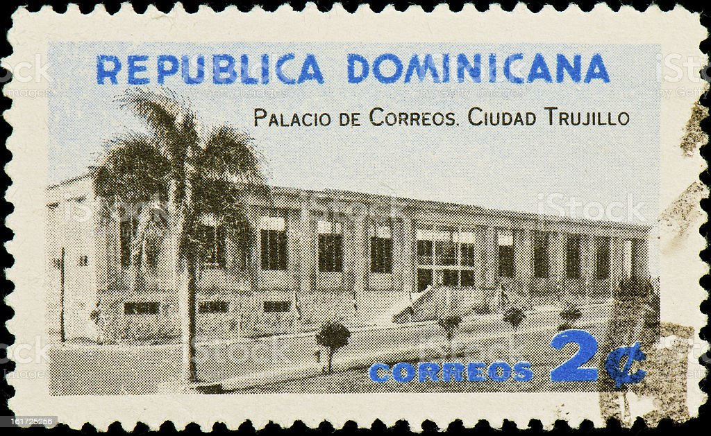 Dominican republic postage stamp royalty-free stock photo