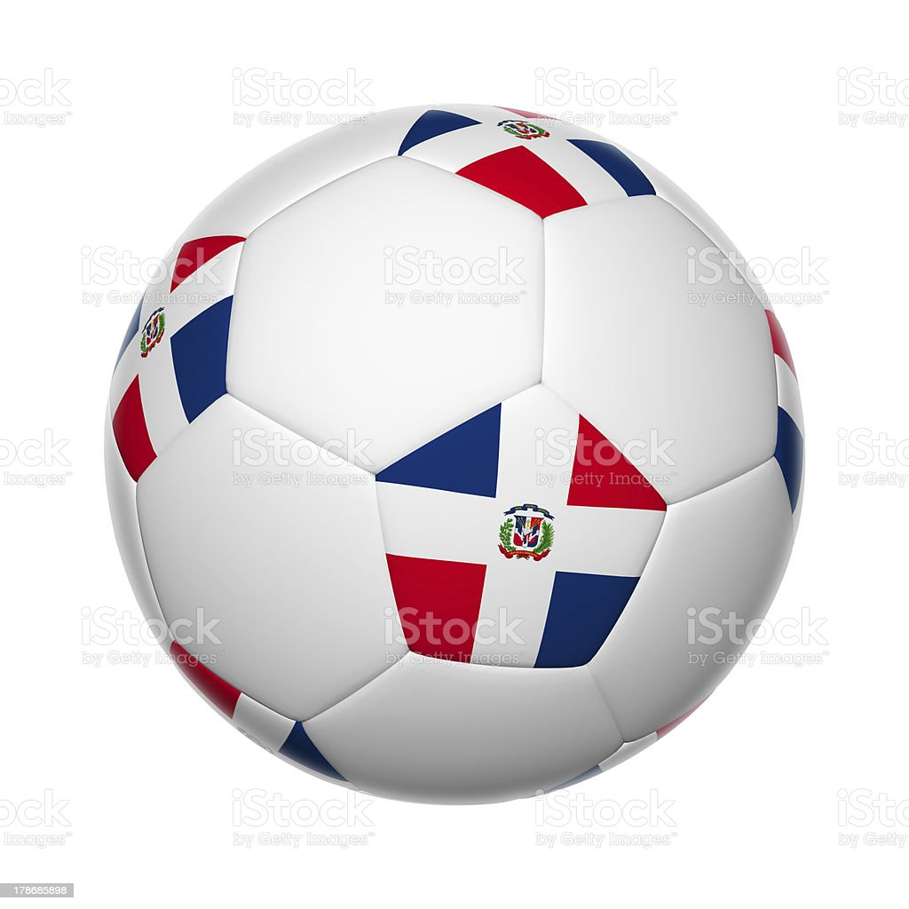 Dominican Republic soccer ball stock photo