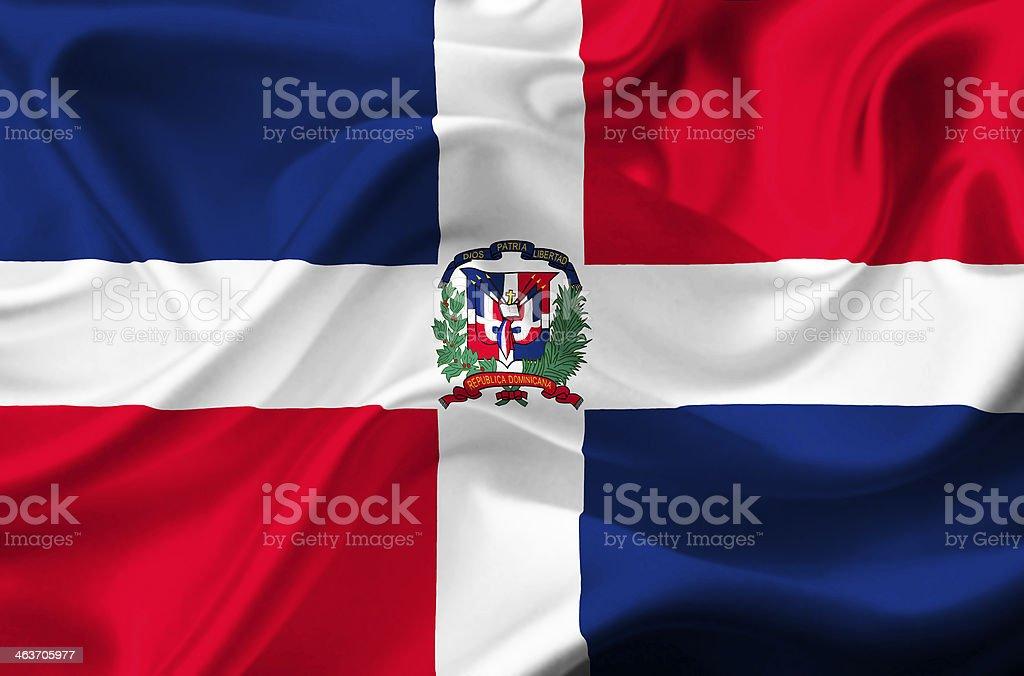 Dominican Republic waving flag stock photo