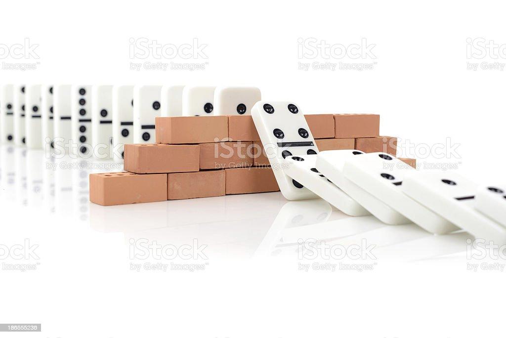 domino effect stock photo