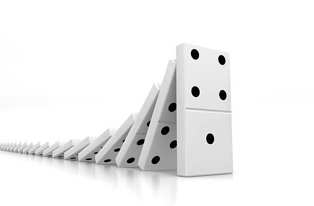 Domino Effect XXL stock photo