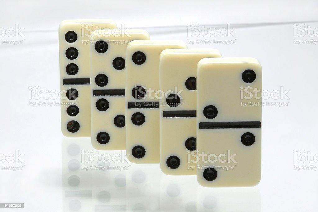 Domino game royalty-free stock photo
