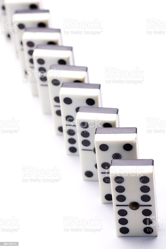 domino in a row royalty-free stock photo