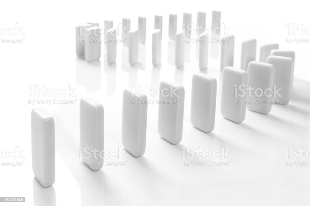 Domino isolated on white stock photo
