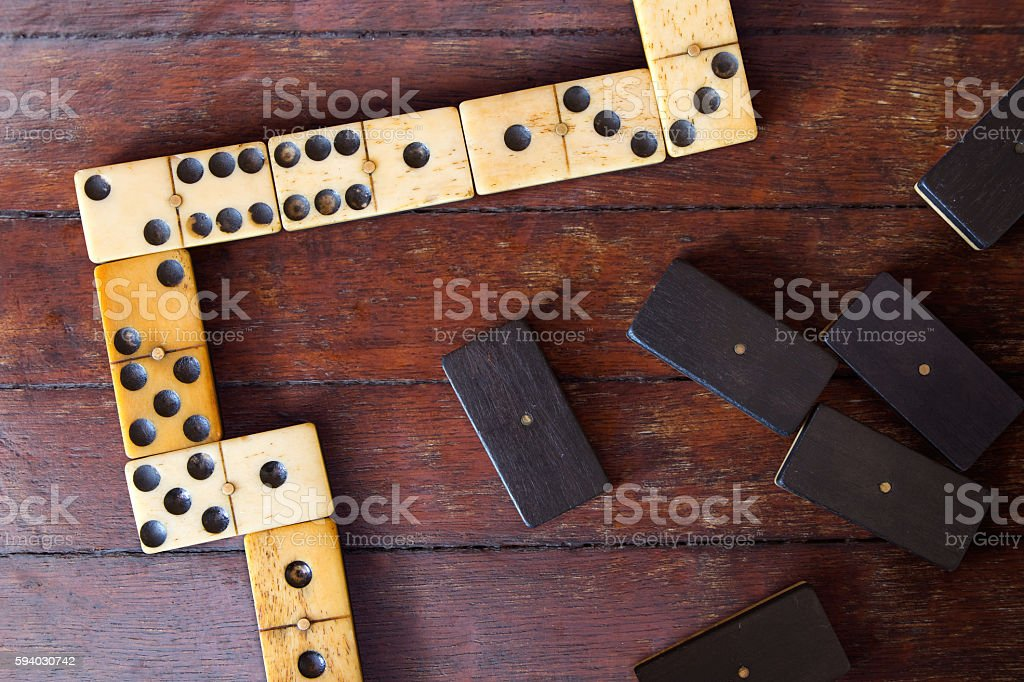domino on the table stock photo