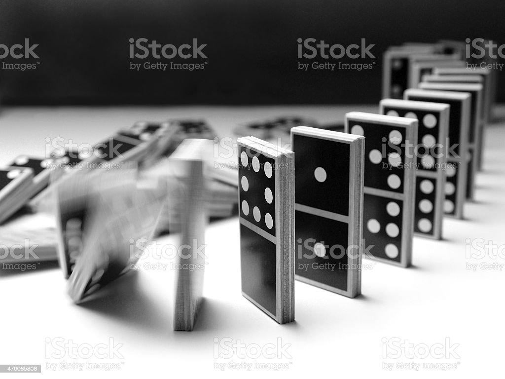 Domino (5) stock photo