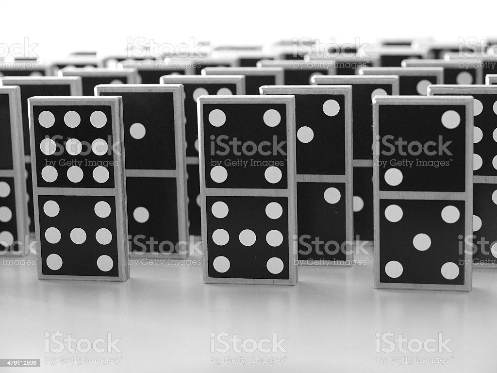Domino (2) stock photo