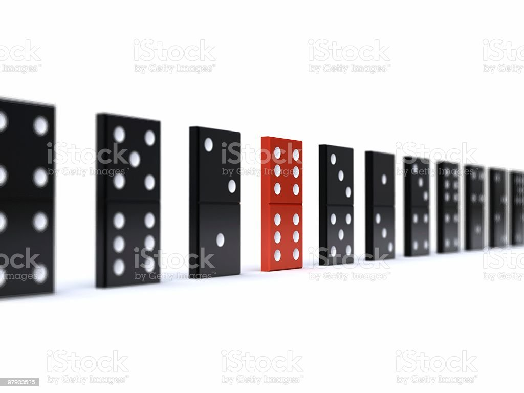 3D domino royalty-free stock photo