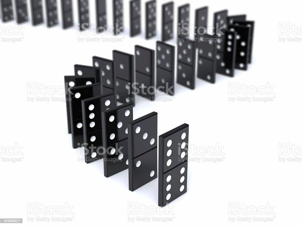 3D domino royalty-free stock photo