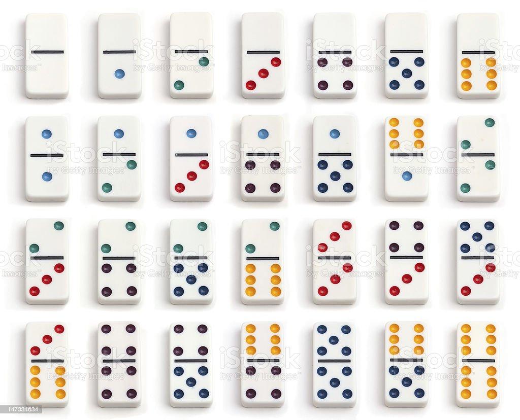 domino set stock photo