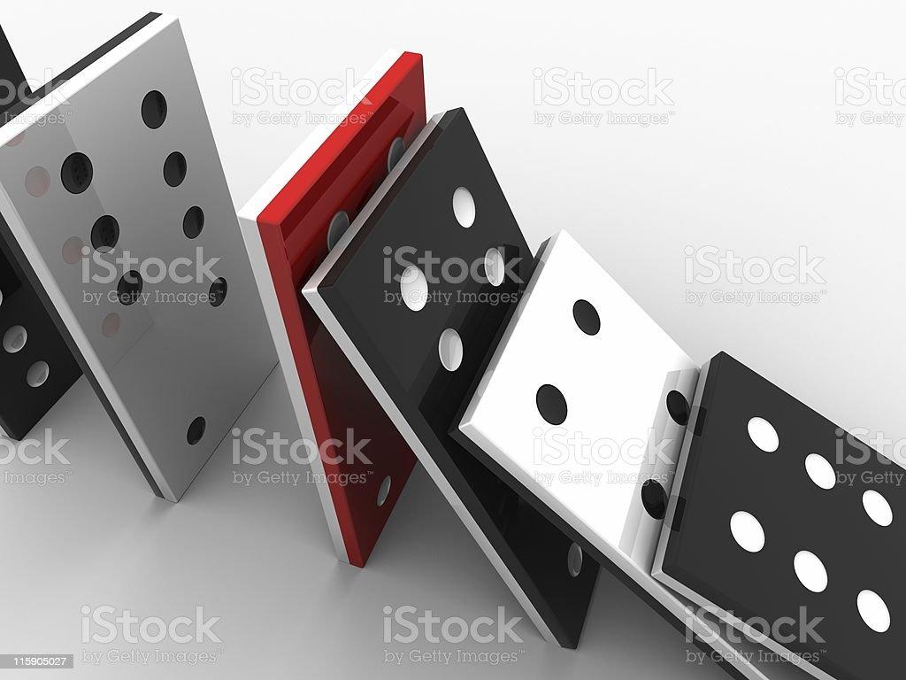 Domino stones royalty-free stock photo