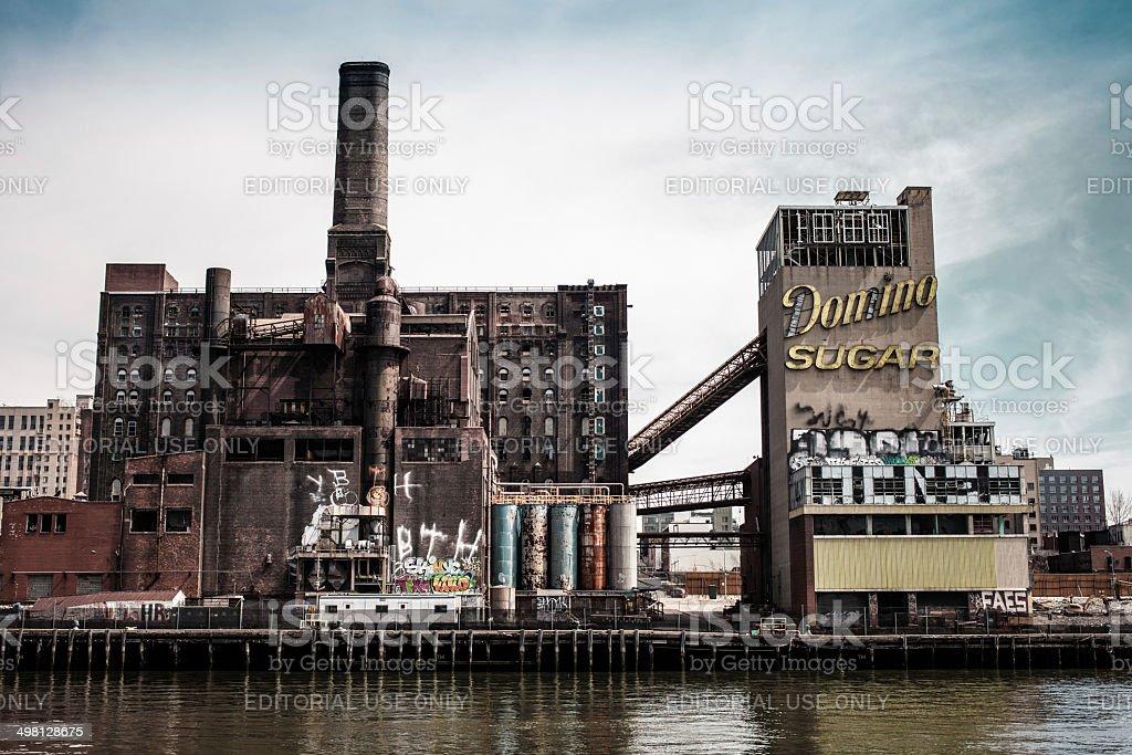 Domino Sugar Factory, Williamsburg Brooklyn, NYC stock photo