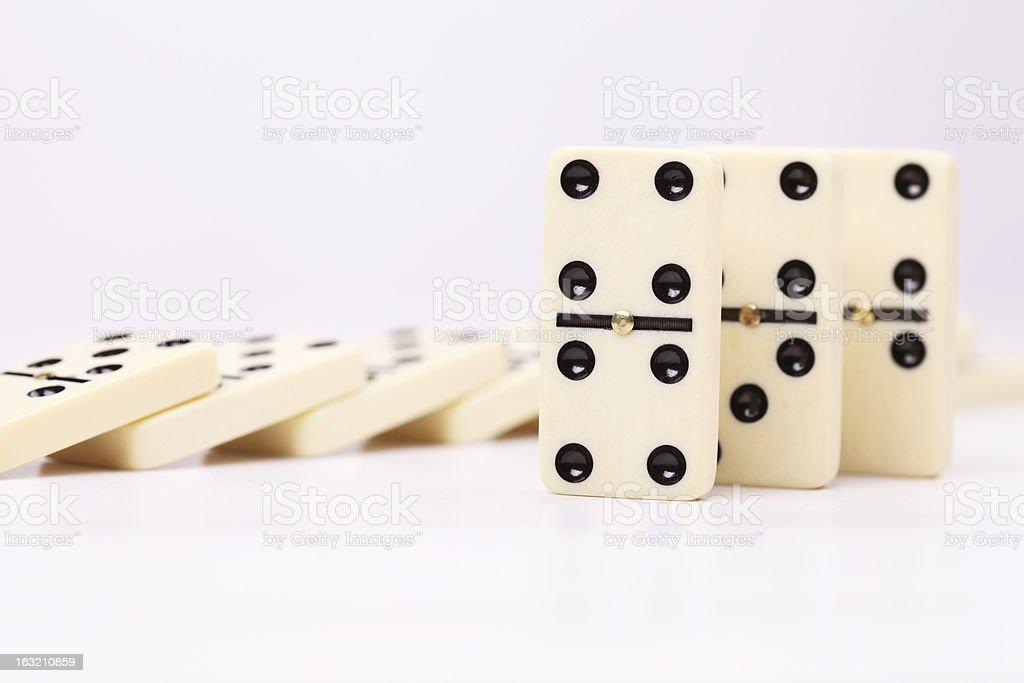 Dominoes 2 royalty-free stock photo