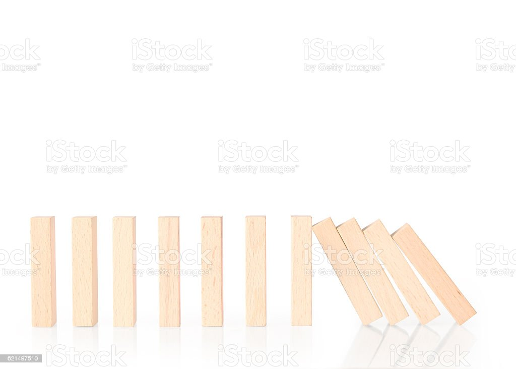 dominoes continuous toppled photo libre de droits