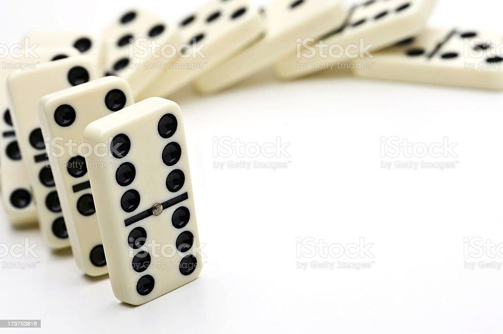 Dominoes fall royalty-free stock photo