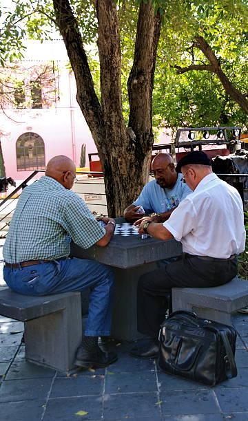 Dominoes Game in Puerto Rico stock photo