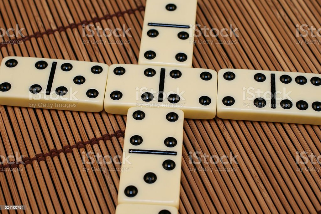 Dominoes Game Pieces stock photo