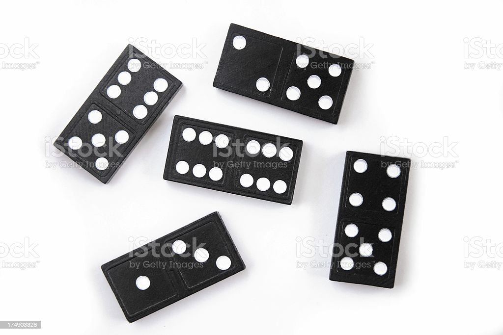 Dominoes on White royalty-free stock photo