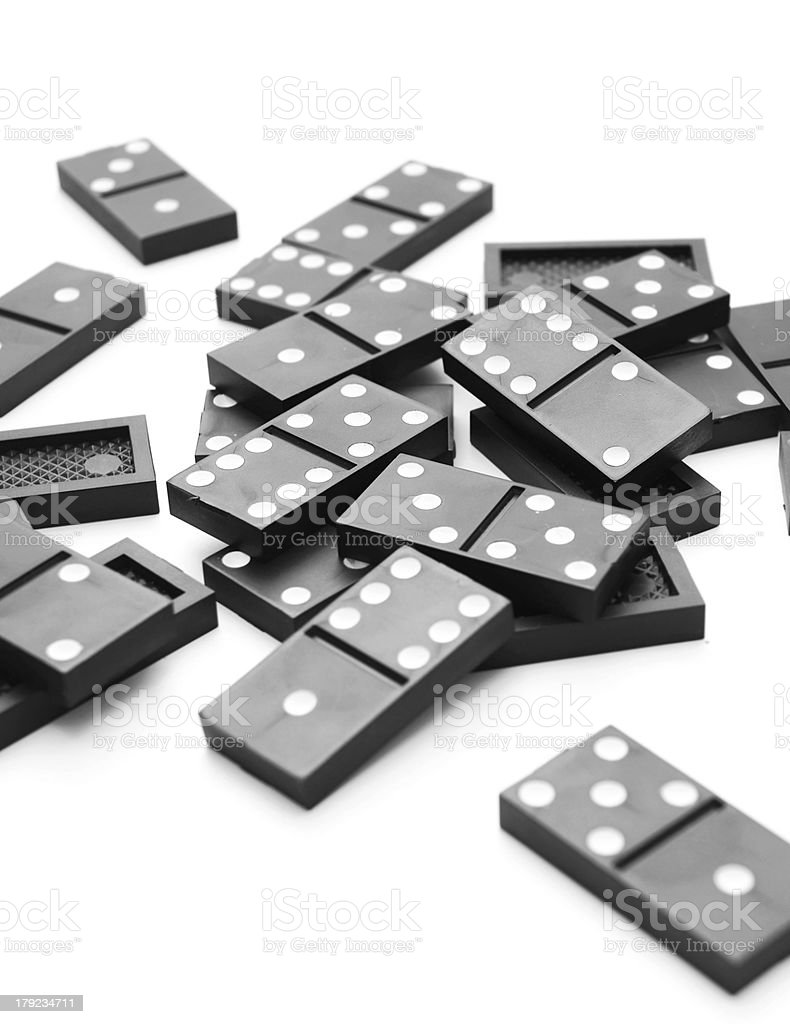 Dominoes. royalty-free stock photo