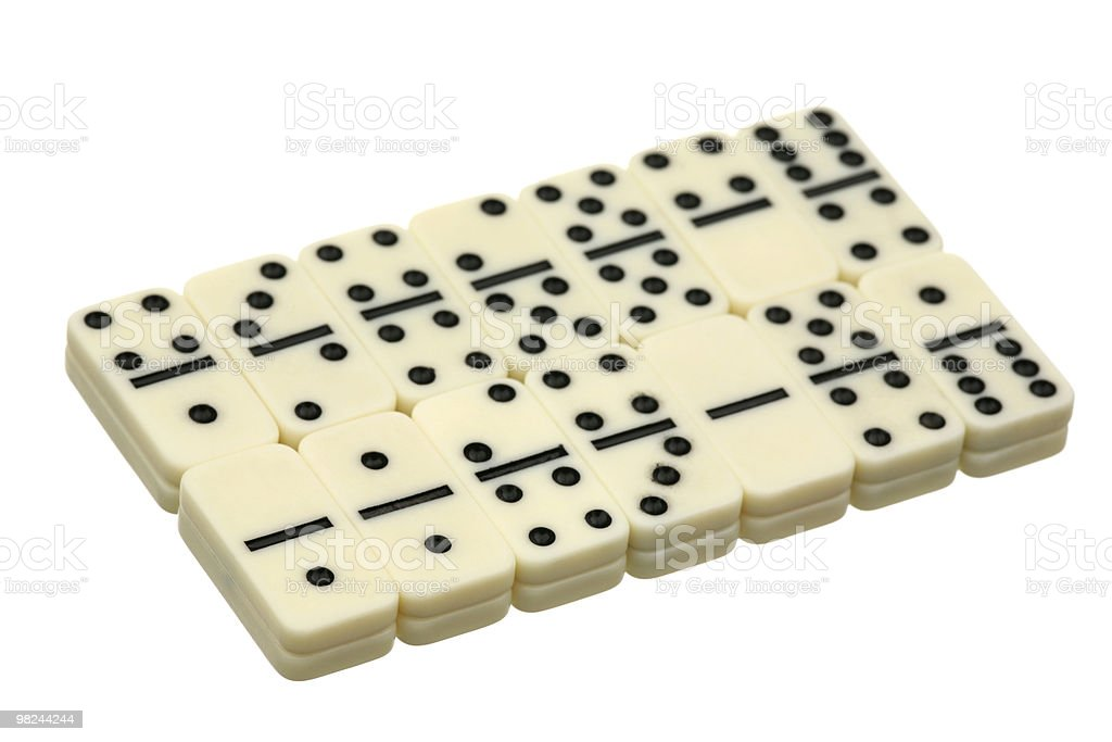 Dominoes royalty-free stock photo