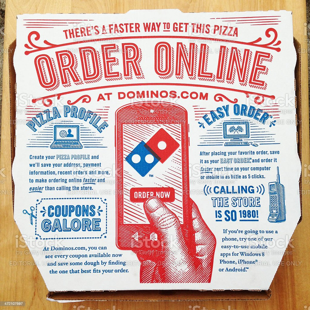 Dominos Pizza Box Royalty Free Stock Photo