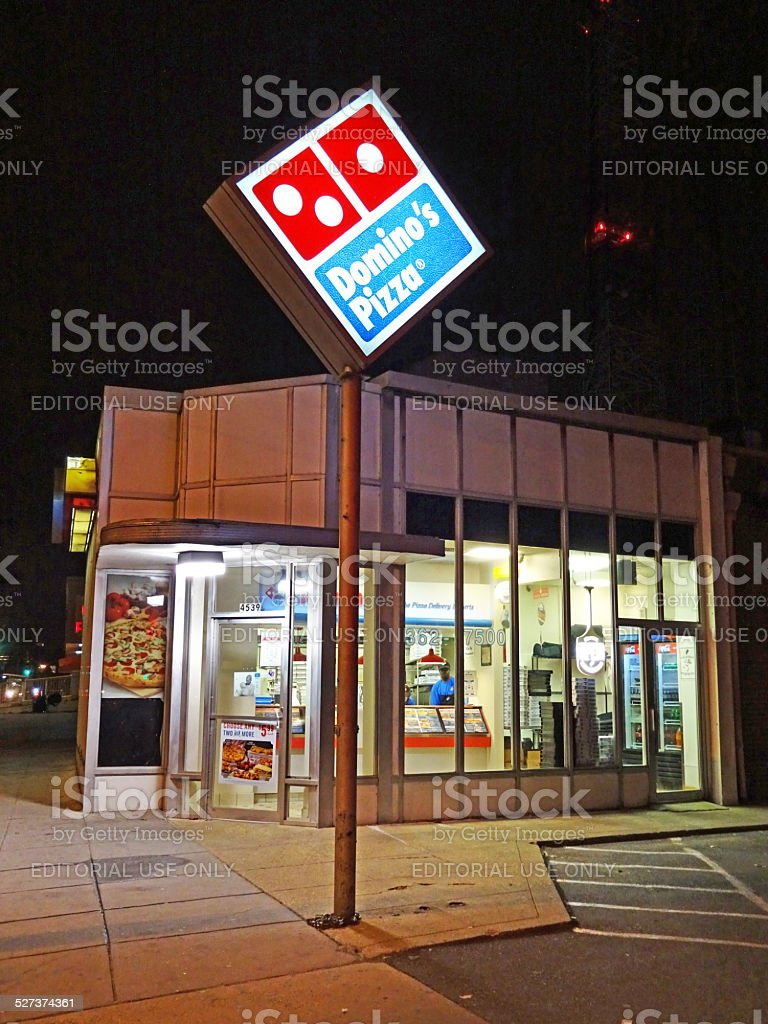 Domino's Pizza Carry Out and Delivery stock photo