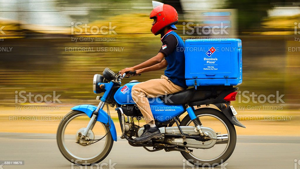 Domino's Pizza Home Delivery stock photo