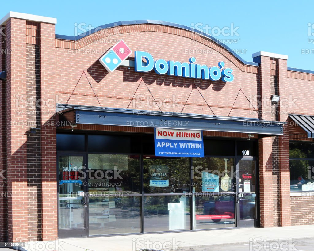 Dominos pizza storefront stock photo