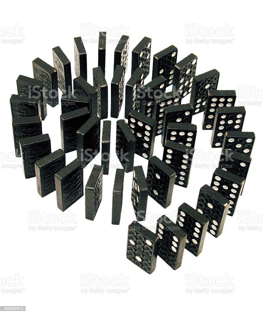 Dominosteine stock photo