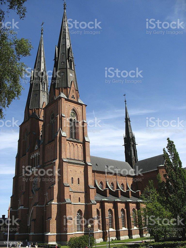 Domkyrkan in Uppsala royalty-free stock photo