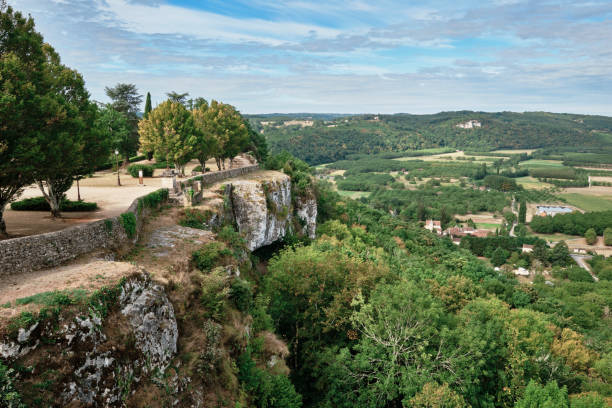 Domme village, Dordogne region, France stock photo