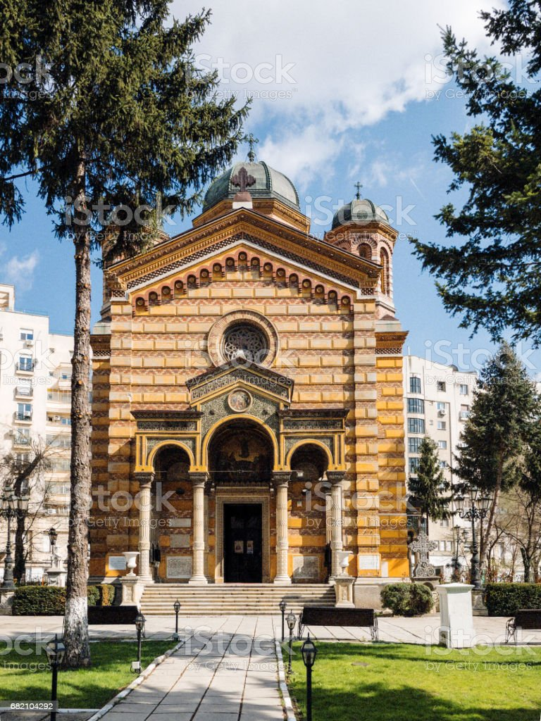 Domnita Balasa church in Bucharest stock photo