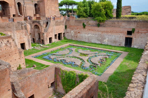 Domus Augustana on Palatine Hill, Rome, Italy Domus Augustana on Palatine Hill, Rome, Italy palatine hill rome stock pictures, royalty-free photos & images