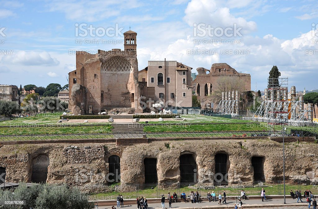 Domus Aurea, built by Emperor Nero in Rome, Italy stock photo
