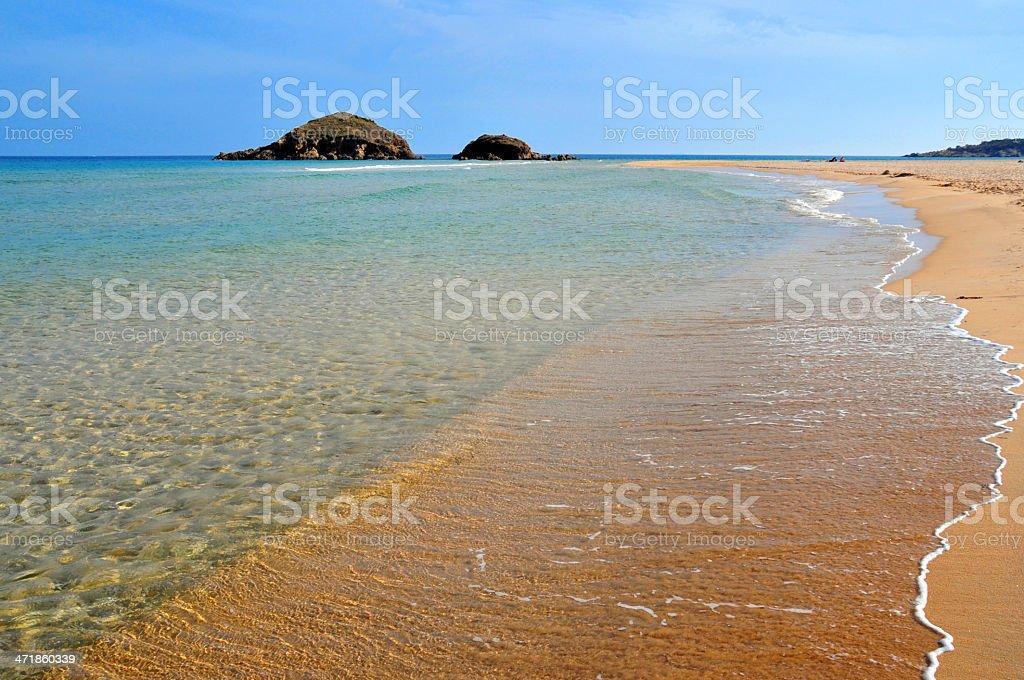 Domus de Maria, Cagliari, Sardinia, Italy: Baia Chia beach stock photo