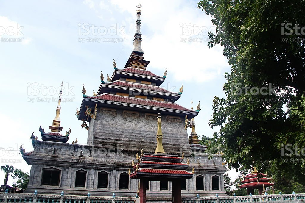 Don Chedi temple at Chainat city in Thailand stock photo