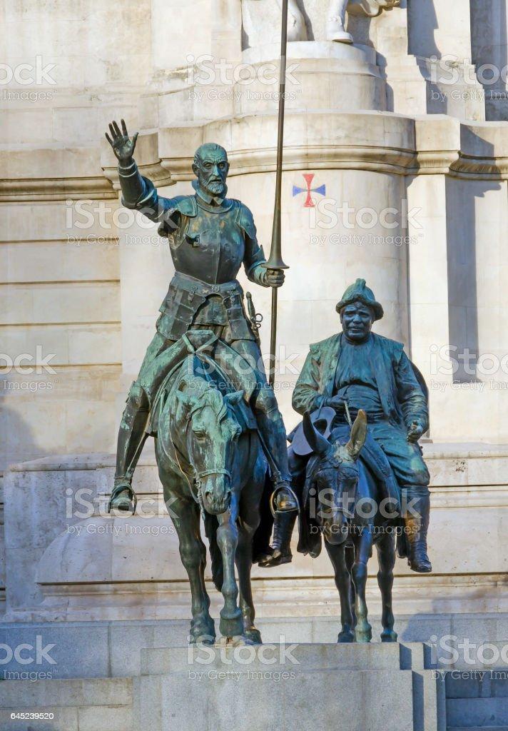 Don quixote bronze statue stock photo
