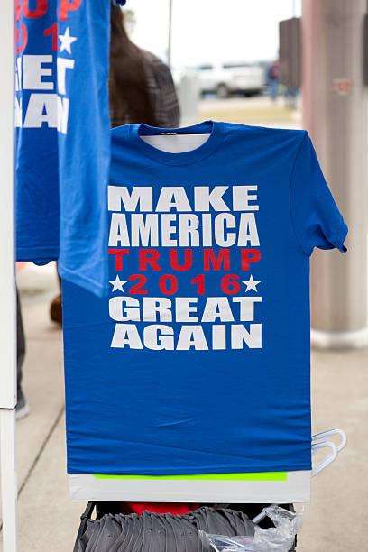 donald trump campaign t-shirt - donald trump us president стоковые фото и изображения