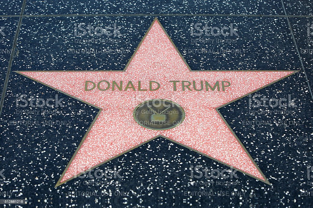 Donald Trump Hollywood Star stock photo