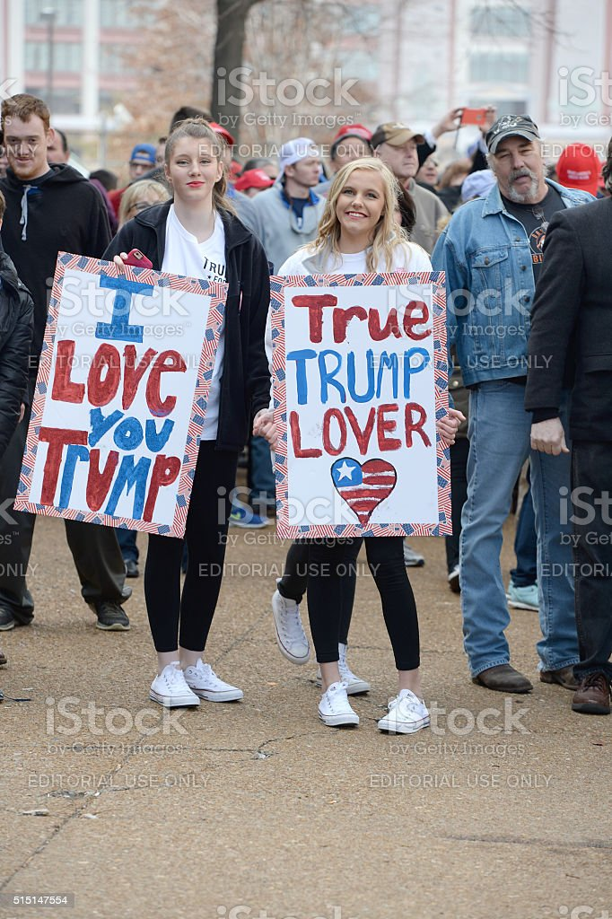 Donald Trump Supporters stock photo