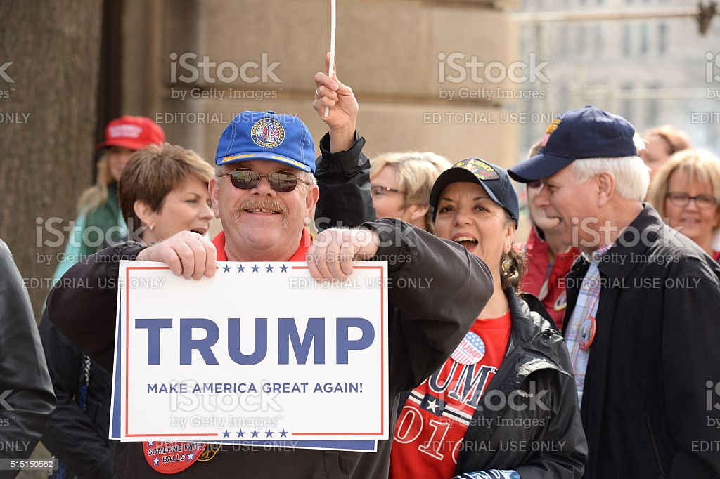 Donald Trump Supporters royalty-free stock photo