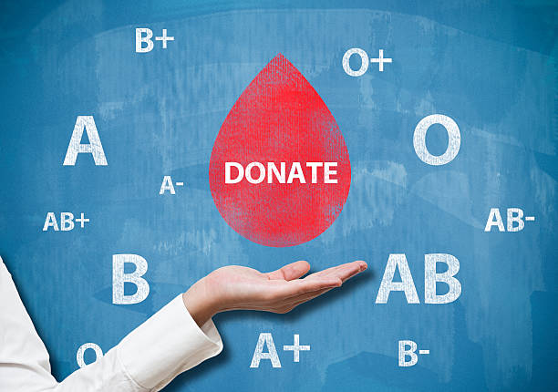 Donate blood / Blue board concept (Click for more) stock photo