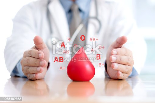 istock Donate / Blood group / Doctor 1068482588