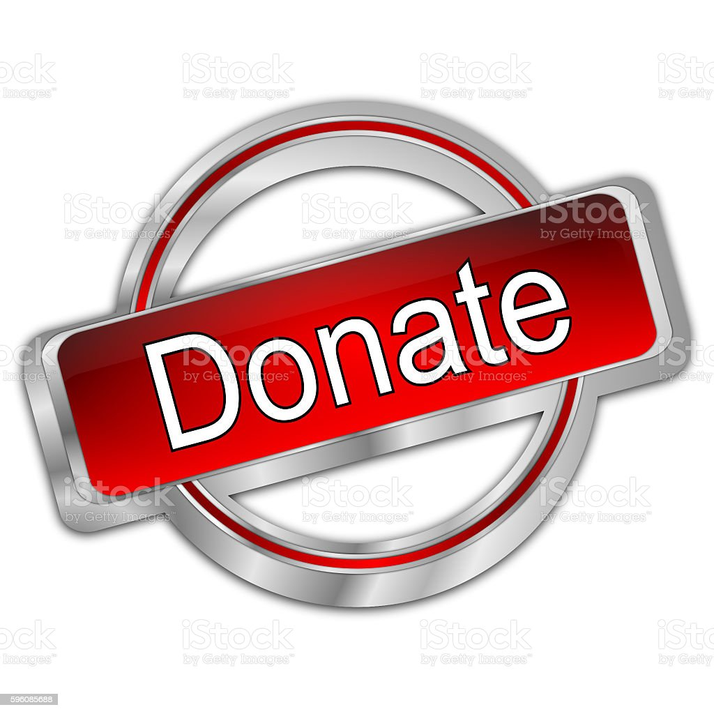 Donate Button- 3d illustration royalty-free stock photo