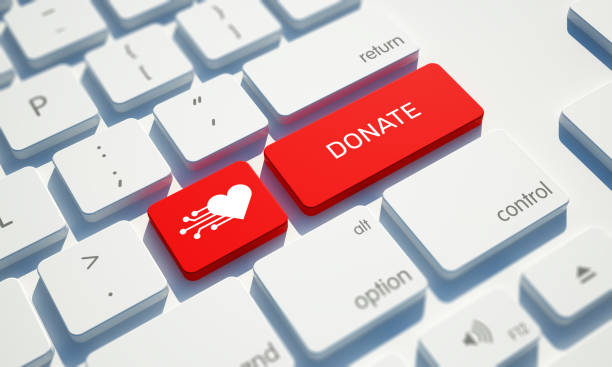 Donate Button on Computer Keyboard Donate Button on Computer Keyboard charitable donation stock pictures, royalty-free photos & images