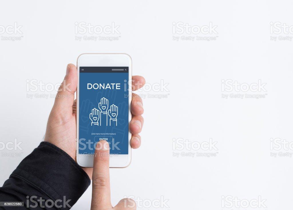 Donate Concept stock photo