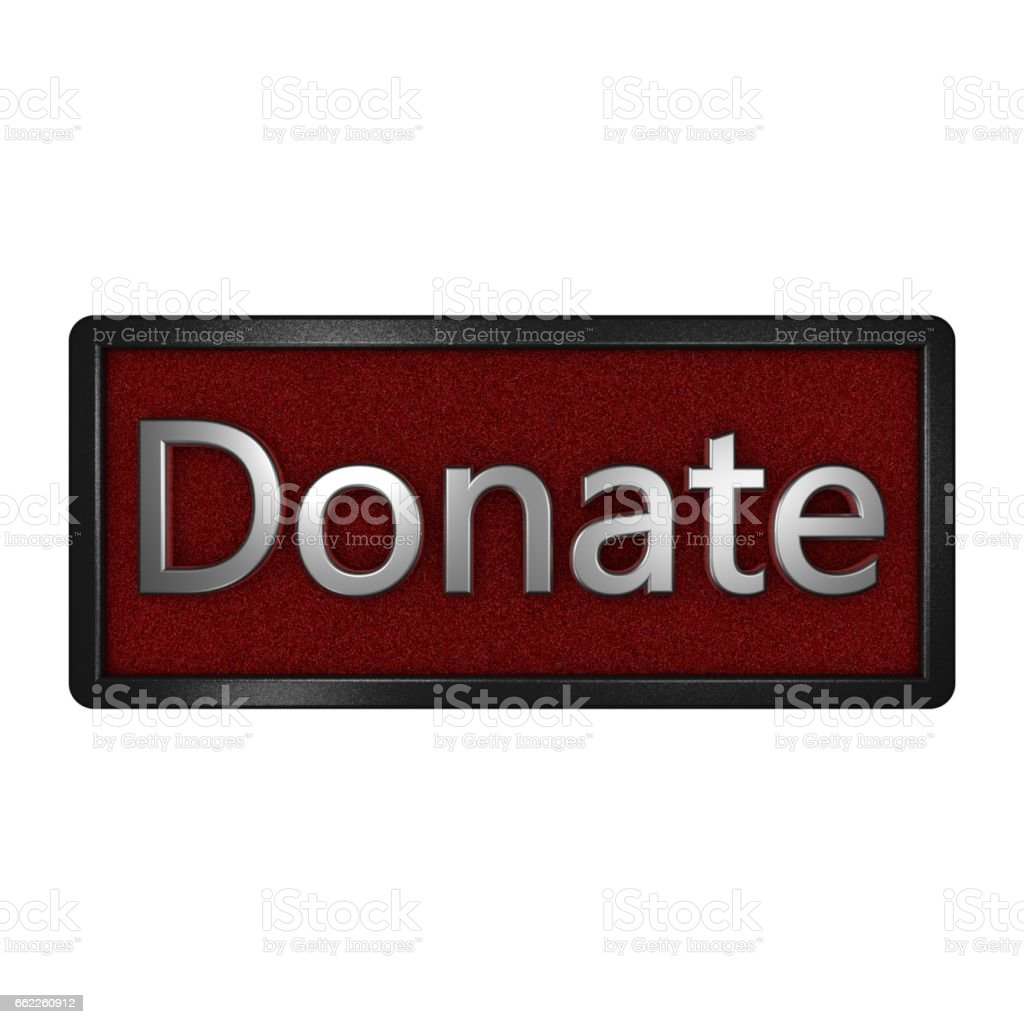 Donate icon. Isolated graphic illustration. 3D rendering. royalty-free stock photo