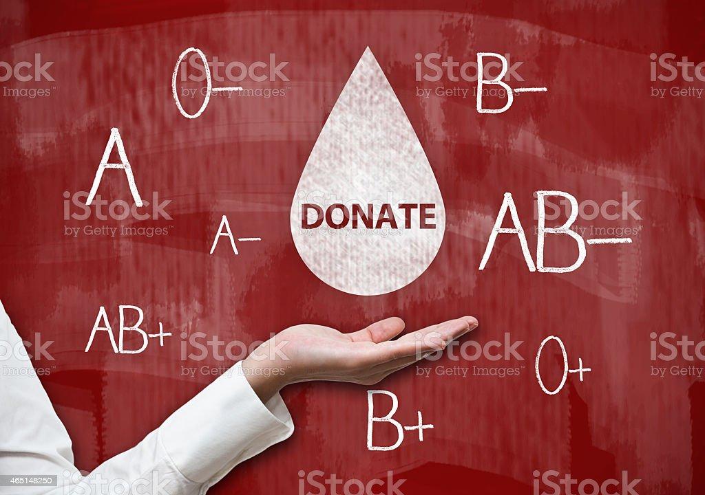 Donate / Red board concept (Click for more) stock photo