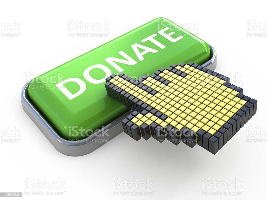 Donate Web button royalty-free stock photo